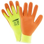 West Chester HVY710HSNF Hi Vis Yellow Foam Nitrile Palm Coated Gloves Size L - 12 pk.